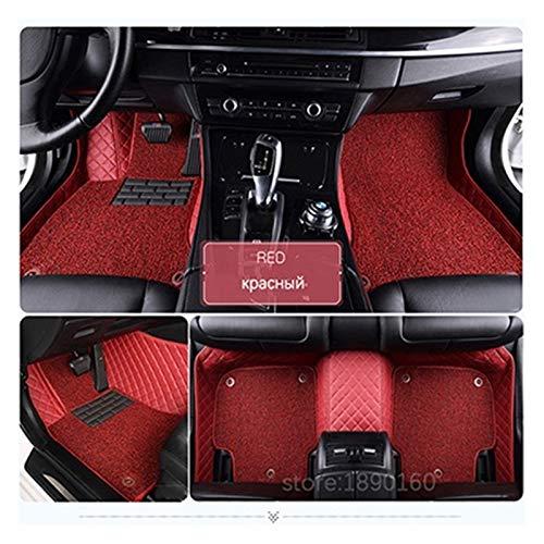 Alfombrillas de Coche Mats del Piso de automóviles compatibles con Hover H1 H2 H3 H5 H6 H8 H9 M1 M2 M4 Accesorio DE Coches DE Coches DE Coches PERSONALES DE Coches AUTOMÓVIL Cuero (Color Name : Red)