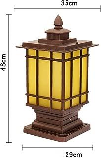 地中埋込型ライト ヨーロッパのシンプルな屋外金属柱ランプ防水ポストライトヴィラガーデン屋外コラムヘッドライトランプ高級中庭ガーデンパビリオンウォールライト (Size : M)