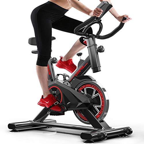 FXYY Cyclette, Cyclette Indoor Bicicletta da Spinning, Cyclette Ultra silenziosa e Trainer Cardio ab con Sistema di Trasmissione a Cinghia, cardiofrequenzimetro e Monitor LCD