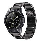 iBazal 20mm Cinturino Metallo Banda Cinturini Acciaio Bracciale Compatibile con Samsung Galaxy Watch 3 41mm/Galaxy Watch 42mm/Active 40mm/Gear Sport/Gear S2 Classic/Huawei Watch 2 Band - Nero
