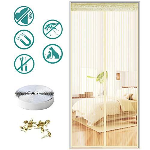 Magnetisch muskietennet deurgordijn anti-muggenvlieg of automatisch sluitende magneet, geen krasband, geen boren, andere kleine dieren,85 * 210cm