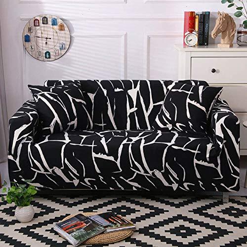 1/2/3/4 Sitz Geometrische Sofabezug Elastic Stretch Modern Stuhl Couchbezug Sofabezüge für Wohnzimmermöbel Protector 1PC, Farbe 5,1, Sitz 90,140 cm