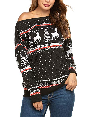 SoTeer Women's Animal Pattern Christmas X-Mas Pullover Knitted Sweaters Jumpers