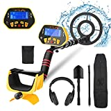 Metal Detector for Adults Professional Adjustable Waterproof Metal Detectors with High Accuracy, Pinpoint & Audio Prompts & DISC & All Metal Modes , Great for Gold Coin Treasures Hunting Beginners