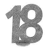 Santex 4752–18, decorazione a forma di numero, verticale, per il 18° compleanno, colore: argento