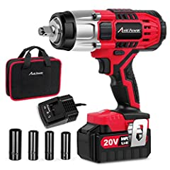 POWERFUL – Equipped with a high spec powerful motor, this impact wrench provides maximum productivity by removing rusted-on or over tightened nuts and bolt. The max tightening torque is 3,983 in-lbs and max losening torque is 4,465 in-lbs. VARIABLE S...