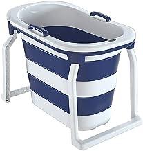 CDPC Volwassen draagbare opvouwbare badkuip, opvouwbare badkuip, 76,5 cm hoog vat (oranje, paars, groen, roze)