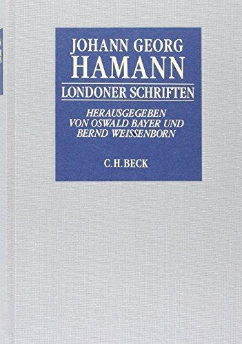 Londoner Schriften: Historisch-kritische Ausgabe