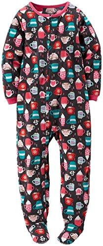Carter's Little Girl's Footie (Toddler/Kid) - Hot Cocoa - 2T