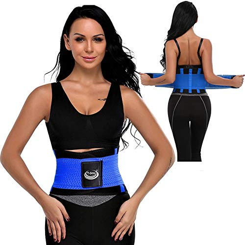 Tdas sweat slim belt for men women waist stomach belt shaper fitness belt yoga wrap hot belt unisex weight loss back pain gym running travel tummy workout