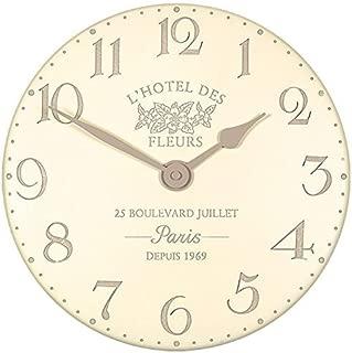 Hotel Des Fleurs Wall Clock Colour: Crème