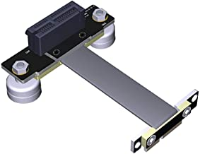 BQZYX+ PCI-e PCI Express 36PIN 1X Extension Cable (Dual Vertical 90 Degrees Direction) with Magnetic Foot