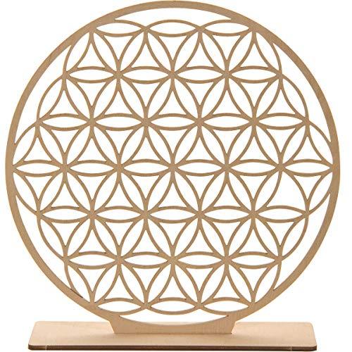 Spruchreif PREMIUM QUALITÄT 100% EMOTIONAL · Fleur de vie en bois Ø 20 cm · Décoration de table · Fleur de vie symbole · Cadeaux ésotériques · Décoration