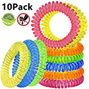Mosquito Repellent Bracelets [10 Pack], Beikell -DEET Free- All Natural Anti Insect Mosquito Bands, Keep away Insects, Bug and Midge, Waterproof and Safe for Kids and Adults