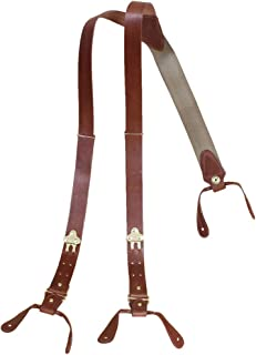Genuine Leather No.1 Suspenders with Brass Buttons | Made in USA