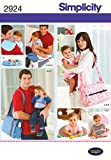 Simplicity 2924 Baby Accessories Sewing Pattern for Parents by Wrights, One Size Each