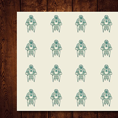 Raptor Battlestar Scout SciFi Galactica Craft Stickers, 30 Stickers at 1.5 inches, Great Shapes for Scrapbook, Party, Seals, DIY Projects, Item 172666