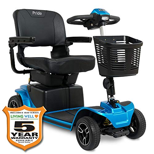 Pride Revo 2.0 4-Wheel Mobility Scooter w/Avail Ext Warr (Blue)