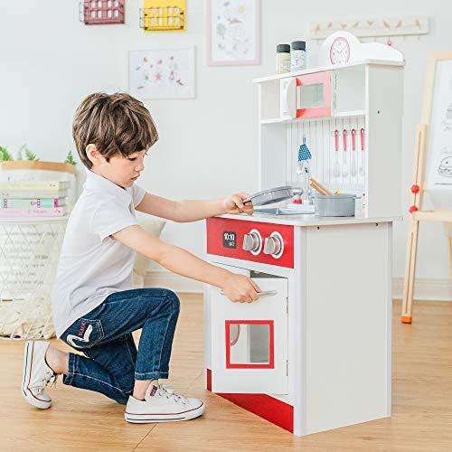 Teamson Kids - Pastel Little Chef Wooden Play Kitchen for Toddler (1 Piece)