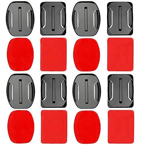 SKAL Halterung Kompatibel mit Gopro Hero 3 4 5 6 7 Session und die meisten Actionkameras, Klebepad Curved und Flat mounts, J und Schnellverschluss Halter Zubehör (16in1 Pads)