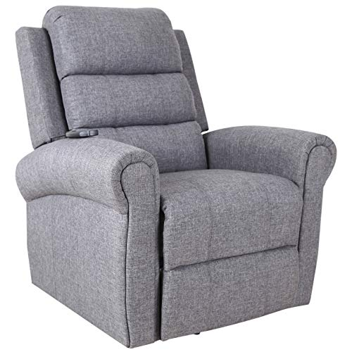 HOMCOM Poltrona Relax Massaggiante Reclinabile Poltrona Alzapersona Elettrica Riscaldante Anziani e Disabili Tessuto 98 × 96 × 105cm