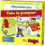 HABA 303808 - Mes premiers jeux - Pompiers | Jeu de mémo passionnant pour 1-4 joueurs à partir de 2 ans | La boîte de jeu devient une caserne de pompiers jouable