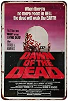 S-RONG雑貨屋 Retro Dawn of The Dead Movie Poster ブリキブリキ 看板レトロ デザイン 20x30cm
