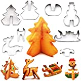 ccfgh Cortador de la Galleta, Galleta de Navidad Cortadores, 3D Galleta del árbol de Metal for Hornear Moldes de Acero Inoxidable Cortador de Masa, de la Pasta de azúcar de la Galleta DIY Hornear