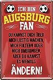 Blechschilder ICH BIN Augsburg Fan Metallschild für
