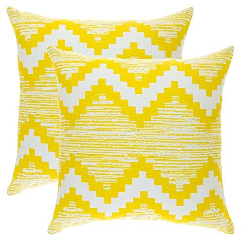 Cojínes amarillos decorados (2 Unidades) 40 x 40 cm