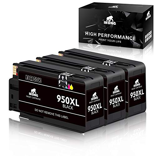 IKONG Compatible Ink Cartridge Replacement for 950XL 950 XL Cartridges Works with OfficeJet Pro 8600 8610 8620 8630 8640 8615 8625 251DW 271DW Printer?3 Black ?