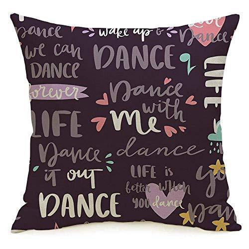 N\A Lino Decorativo Cuadrado Throw Pillow Cover Case Dibujado a Mano Motivación gráfica Letras Frase Dibujo Tipo de Escritura Patrón Radio Texturas Funda de Almohada Cojín Funda de cojín para sofá