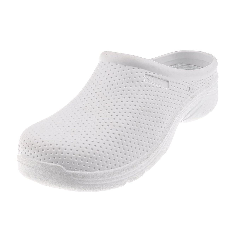 公平ブレーキ麺Baosity プロ 作業靴 ワークシューズ 男女用 滑り止め 耐油性 抗菌 軽量 自宅 病院 レストラン 白 多サイズ選べ