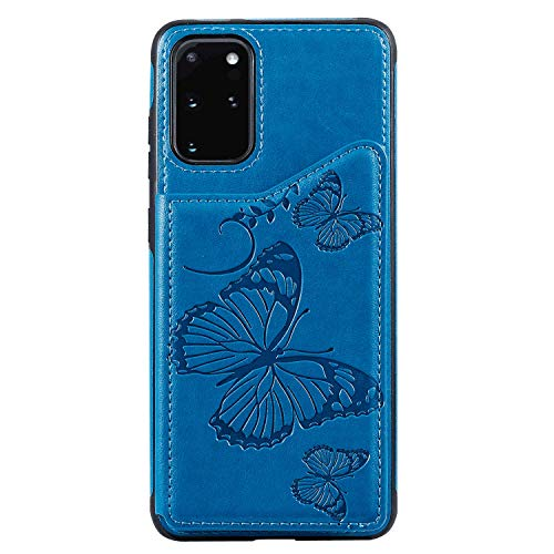 Leather Flip Case Fit for Samsung Galaxy S20 Plus, Kickstand Card Holders Extra-Shockproof Wallet Cover for Samsung Galaxy S20 Plus