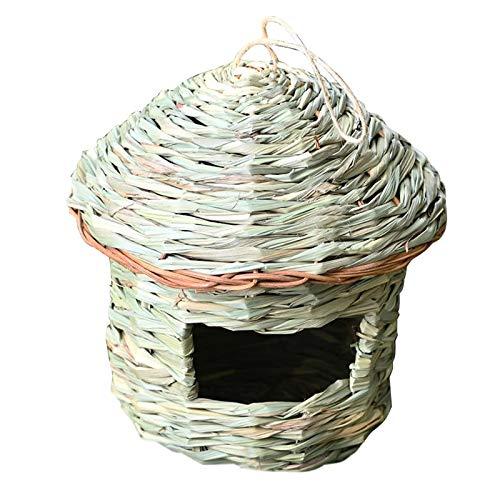 Generic Casa del Colibrì, Nido D'uccello Appeso Tessuto a Mano, Casetta per L'allevamento di Erba all'Esterno, Nido di Colibrì Naturale per Fringuello E Canar - 16x15 cm