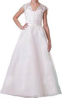 e11ee6224ff Gzcdress White Communion Dresses for Girls Lace Princess Flower Girls  Dresses for Wedding 30