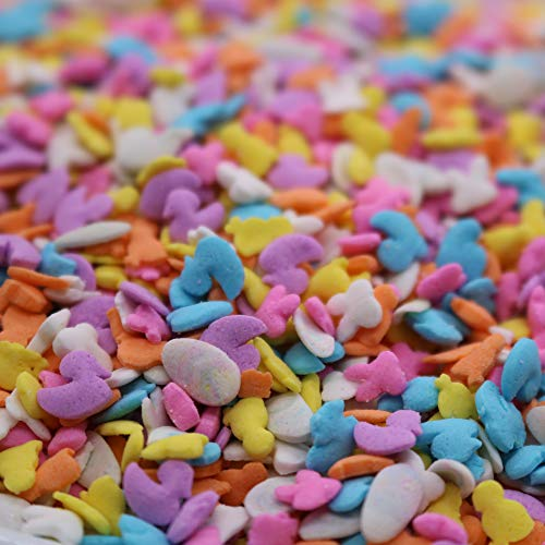 Assorted Easter Decoration Sprinkles - 10 ounces assorted - Pastel Cupcake Chicks Bunnies