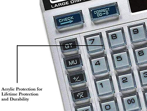 STraders Calculator for Office Shop with Large LCD Display (Black) 112 Steps Check Correct Desktop 12 Digits