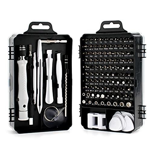 MJTY 115 en 1 Juegos de Destornilladores de Precisión, Herramientas Desmontar Kit de Reparación para iPhones, PC, Xbox, Cámara, Reloj, Tablet PC, Gafas y Otros aparatos electrónicos