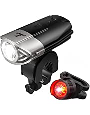 ATARAXIA 自転車ライト 1200ルーメン 2000mah USB充電式 ヘッドライト IP65防水 テールライト付き (シルバー)