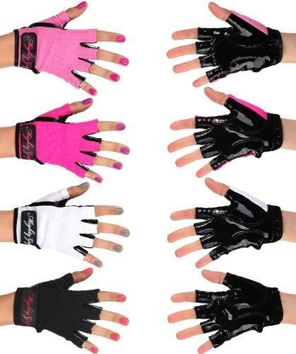 Mighty Grip Black Pole Dancing Gloves with Tack Strips for Gripping The Pole (Medium)