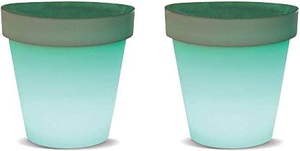 Kokido Mueblo Vase Floating Illuminated Rechargeable LED Patio Light (2 Pack)