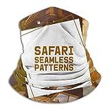 AEMAPE Safari Hunting Set Patrones sin Costuras Calentador de Cuello Sombreros Diademas Anchas Bufanda Envoltura para la Cabeza, Diadema de Polaina para el Cuello, Bandana Facial