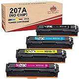 Toner Kingdom 207A Cartuchos de tóner Compatibles para HP 207A HP 207X HP W2210A W2211A W2212A W2213A para HP Color Laserjet Pro MFP M283fdw M283fdn M255dw M255nw M282nw (Sin Chip)