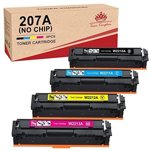 Toner Kingdom 207A Cartuchos de tóner Compatibles para HP 207A HP 207X HP W2210A W2211A W2212A W2213A para HP Color… 1