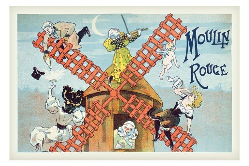 Moulin Rouge (detail) poster
