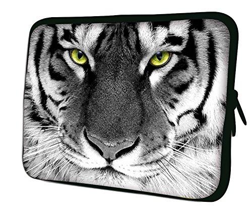 Luxburg® 15,6 Zoll Notebooktasche Laptoptasche Tasche aus Neopren Schutzhülle Sleeve für Laptop/Notebook Computer - Weißer Tiger