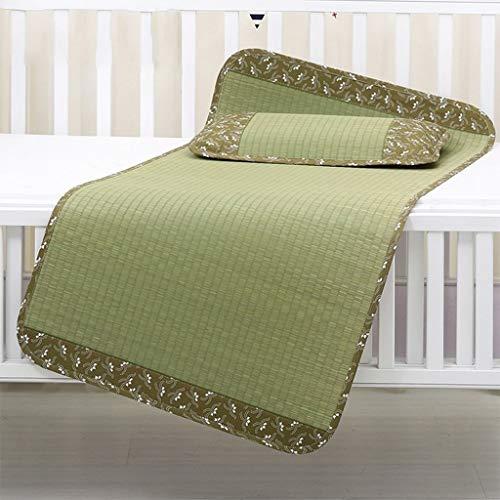 I will take action now Children's bed natural straw mat two-piece baby summer mat newborn baby mat kindergarten nap mat (Size : 70 * 140CM)