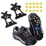 Aomier Tacos para zapatos, zapatos antideslizantes, cadenas de nieve, crampones para botas de montaña, botas de senderismo, tallas 30-48