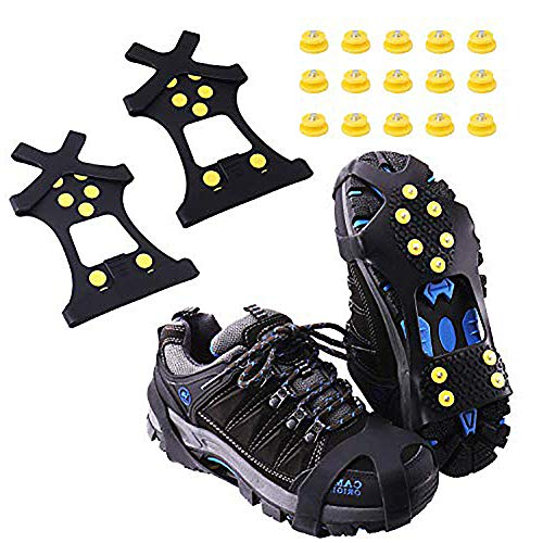 Aomier Tacos para zapatos, antideslizantes, para nieve, para botas de montaña, tallas 30-48